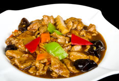 Pork with chilly sauce Royalty Free Stock Photos