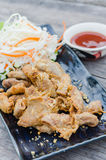 Pork chitterlings fried Stock Images