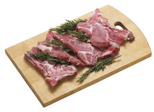 Pork chop on board Stock Image