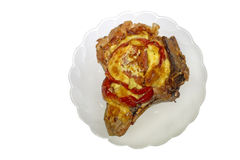 Pork chop on bone Royalty Free Stock Image
