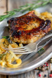 Pork chop on the bone. Royalty Free Stock Photos