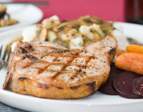 Pork chop dinner Stock Photography