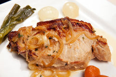 Pork chop dish vegetables Stock Photography