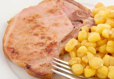 Pork Chop Entree Stock Images