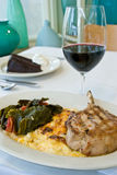 Pork Chop Entree With Sides Stock Photography