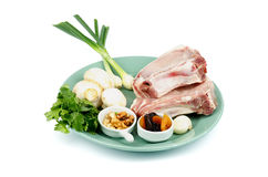 Pork Chop with Ingredients Royalty Free Stock Photo