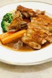 Pork chop kurobuta steak Japanese style Royalty Free Stock Images
