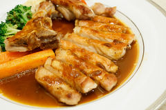 Pork chop kurobuta steak Japanese style Stock Photography