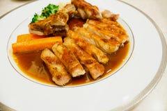 Pork chop kurobuta steak Japanese style Royalty Free Stock Image
