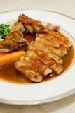 Pork chop kurobuta steak Japanese style Royalty Free Stock Photography