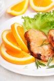 Pork chop with orange sauce Stock Photography