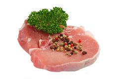Pork Chop with Pepper Royalty Free Stock Images