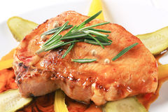 Pork chop in spicy  glaze Stock Image
