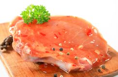 Pork chop in spicy glaze Royalty Free Stock Photography