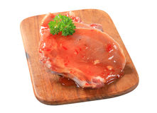 Pork chop in spicy glaze Royalty Free Stock Images