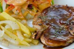 Pork chop steak Royalty Free Stock Images