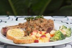 Pork chop steak Stock Images