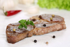 Pork chop steak cutlet meat Royalty Free Stock Photography