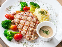 Pork chop steak. Royalty Free Stock Photography