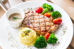 Pork chop steak. Royalty Free Stock Photos