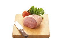 Pork chop and tomato Stock Photography