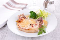 Pork chop and vegetable Stock Photography