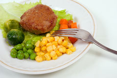 Pork chop with vegetables. royalty free stock photography