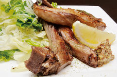Pork chops. Western food,pork chops,dish stock images