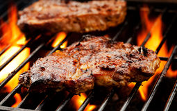 Pork Chops On The Barbecue Stock Photography