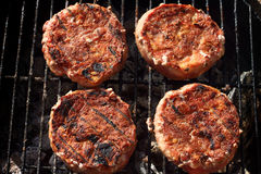 Pork chops on bbq Stock Photography
