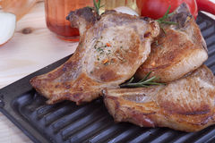 Pork chops Stock Image