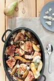 Pork chops with gorgonzola Stock Photos