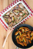 Pork chops with gorgonzola Stock Photography