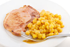 Pork Chops & Hominy Stock Images