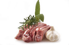 Pork chops in preparation Stock Photography
