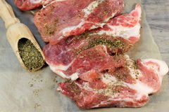 Pork chops with Provencal herbs Royalty Free Stock Image