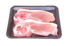 Pork chops raw Royalty Free Stock Images