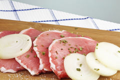 Pork chops raw Stock Image
