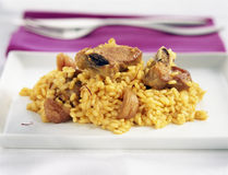 Pork chops with rice Stock Images
