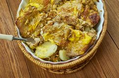 Pork Chops  Scalloped Potatoes Casserole royalty free stock image