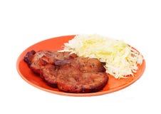 Pork chops steak stock photography
