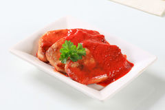 Pork chops with tomato sauce Stock Photography