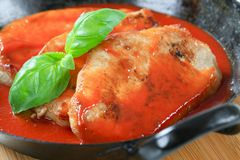 Pork chops with tomato sauce Stock Photos