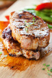 Pork chops with vegetable Stock Photos