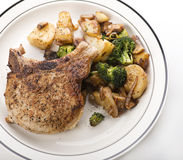 Pork chops with vegetables Royalty Free Stock Photo