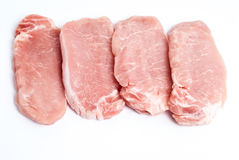 Pork chops on a white background Stock Photo