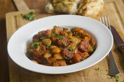 Pork and chorizo stew Royalty Free Stock Photography
