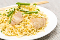 Pork chow mein Royalty Free Stock Photography