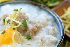 Pork Congee. Stock Photo