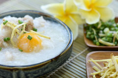 Pork Congee. Royalty Free Stock Photography